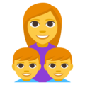 Family: Woman, Boy, Boy on EmojiOne 3.1