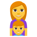 Family: Woman, Boy on EmojiOne 3.1