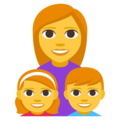 Family: Woman, Girl, Boy on EmojiOne 3.1