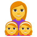 Family: Woman, Girl, Girl on EmojiOne 3.1