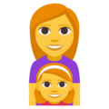 Family: Woman, Girl on EmojiOne 3.1