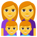 Family: Woman, Woman, Boy, Boy on EmojiOne 3.1