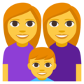 Family: Woman, Woman, Boy on EmojiOne 3.1