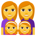 Family: Woman, Woman, Girl, Girl on EmojiOne 3.1