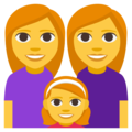 Family: Woman, Woman, Girl on EmojiOne 3.1