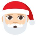 Santa Claus: Light Skin Tone on EmojiOne 3.1