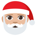 Santa Claus: Medium-Light Skin Tone on EmojiOne 3.1