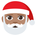 Santa Claus: Medium Skin Tone on EmojiOne 3.1