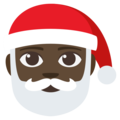 Santa Claus: Dark Skin Tone on EmojiOne 3.1