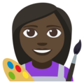 Woman Artist: Dark Skin Tone on EmojiOne 3.1