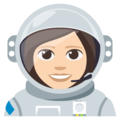 Woman Astronaut: Light Skin Tone on EmojiOne 3.1