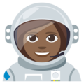 Woman Astronaut: Medium-Dark Skin Tone on EmojiOne 3.1