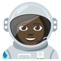 Woman Astronaut: Dark Skin Tone on EmojiOne 3.1