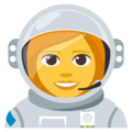 Woman Astronaut on EmojiOne 3.1
