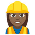 Woman Construction Worker: Medium-Dark Skin Tone on EmojiOne 3.1