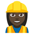 Woman Construction Worker: Dark Skin Tone on EmojiOne 3.1