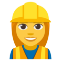 Woman Construction Worker on EmojiOne 3.1