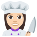 Woman Cook: Light Skin Tone on EmojiOne 3.1