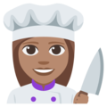 Woman Cook: Medium Skin Tone on EmojiOne 3.1