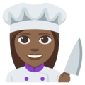 Woman Cook: Medium-Dark Skin Tone on EmojiOne 3.1