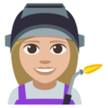 Woman Factory Worker: Medium-Light Skin Tone on EmojiOne 3.1