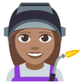 Woman Factory Worker: Medium Skin Tone on EmojiOne 3.1