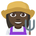 Woman Farmer: Dark Skin Tone on EmojiOne 3.1