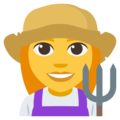 Woman Farmer on EmojiOne 3.1
