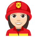 Woman Firefighter: Light Skin Tone on EmojiOne 3.1
