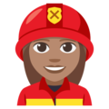 Woman Firefighter: Medium Skin Tone on EmojiOne 3.1