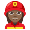 Woman Firefighter: Medium-Dark Skin Tone on EmojiOne 3.1