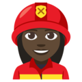Woman Firefighter: Dark Skin Tone on EmojiOne 3.1