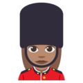 Woman Guard: Medium Skin Tone on EmojiOne 3.1