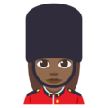 Woman Guard: Medium-Dark Skin Tone on EmojiOne 3.1