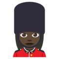 Woman Guard: Dark Skin Tone on EmojiOne 3.1