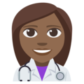 Woman Health Worker: Medium-Dark Skin Tone on EmojiOne 3.1