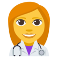 Woman Health Worker on EmojiOne 3.1