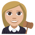 Woman Judge: Medium-Light Skin Tone on EmojiOne 3.1