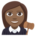 Woman Judge: Medium-Dark Skin Tone on EmojiOne 3.1
