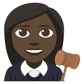 Woman Judge: Dark Skin Tone on EmojiOne 3.1