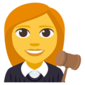 Woman Judge on EmojiOne 3.1