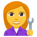 Woman Mechanic on EmojiOne 3.1
