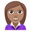 Woman Office Worker: Medium Skin Tone on EmojiOne 3.1