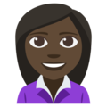 Woman Office Worker: Dark Skin Tone on EmojiOne 3.1