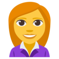 Woman Office Worker on EmojiOne 3.1