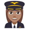 Woman Pilot: Medium Skin Tone on EmojiOne 3.1