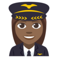 Woman Pilot: Medium-Dark Skin Tone on EmojiOne 3.1
