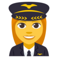 Woman Pilot on EmojiOne 3.1
