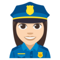 Woman Police Officer: Light Skin Tone on EmojiOne 3.1