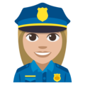 Woman Police Officer: Medium-Light Skin Tone on EmojiOne 3.1